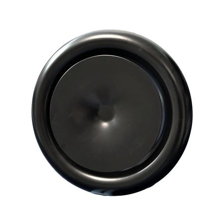 Rooster/ventiel Ø125mm staal - toevoer - met veer - zwart