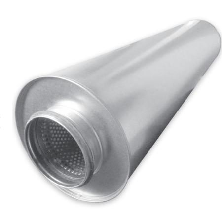 Starre geluidsdemper Ø 160mm - isolatie 50mm - Lengte = 900mm