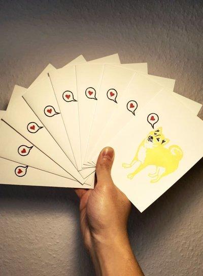 Herr Pong DOG Grußkarte