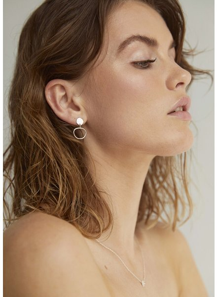 Wild Fawn TEXTURED DISC DROP Studs