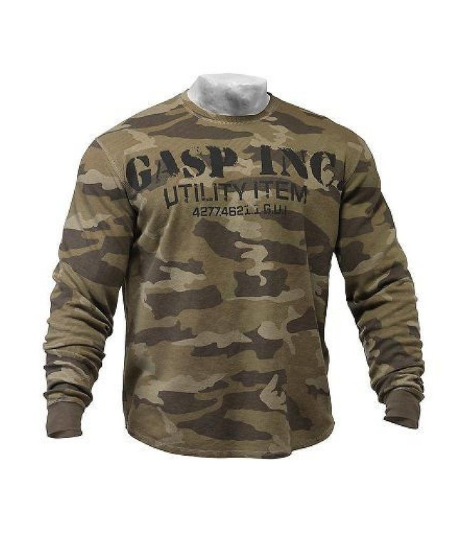 GASP Thermal Gym Sweater - Green Camoprint