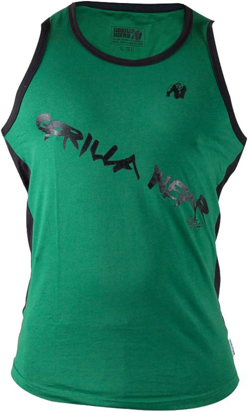e0005a5c03d82 Gorilla Wear - Stretch Tank Top Green - available at Real Nutrition ...