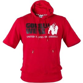 Gorilla Wear Short Sleeve Hoodie - Red