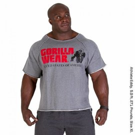 Gorilla Wear Classic Workout Top - Grey