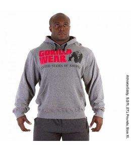 GORILLA WEAR Classic Hooded Top - Grey