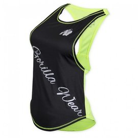 Gorilla Wear Stringer Tank Top - Black/Neon Lime