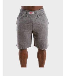 GORILLA WEAR Classic Seersucker Shorts - Grey Melange