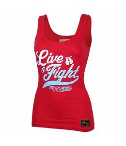 OLIMP LIVE & FIGHT Tank Top Original 90 - Red