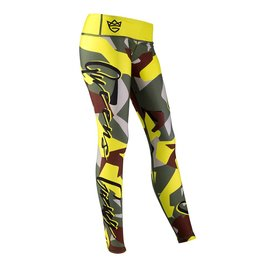 Olimp Live & Fight Women's Leggings - Camo Green