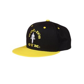 Gold's Gym Flat Peak Cap - Black/Gold