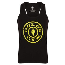 Gold's Gym Muscle Joe Ladies Premium Fitted Vest - Black