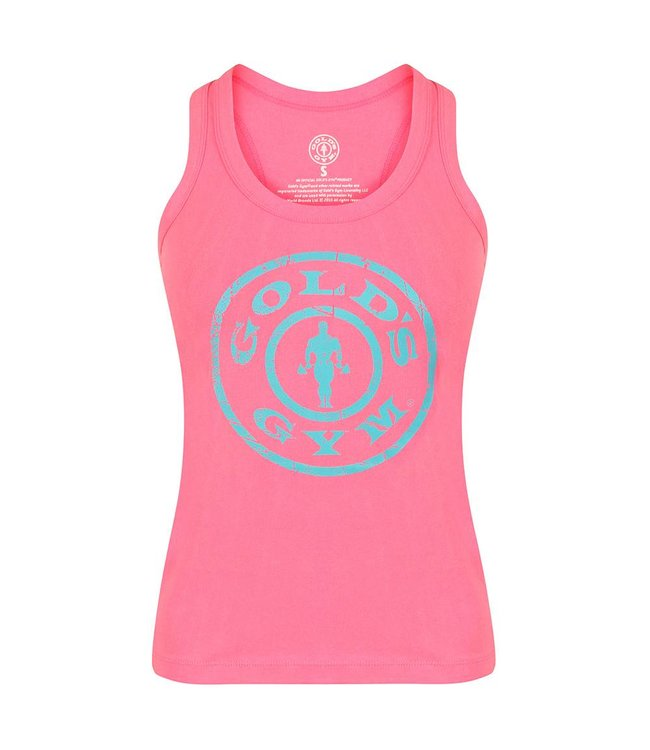 GOLD'S GYM Muscle Joe Ladies Premium Fitted Vest - Pink