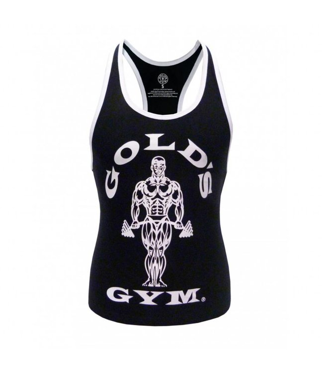 GOLD'S GYM Muscle Joe Ladies Premium Stringer Vest - Black