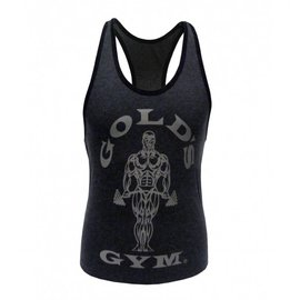 Gold's Gym Muscle Joe Ladies Premium Stringer Vest - Grey