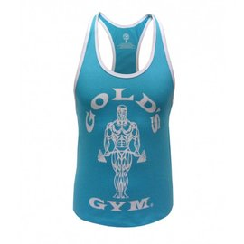 Gold's Gym Muscle Joe Ladies Premium Stringer Vest - Turquoise