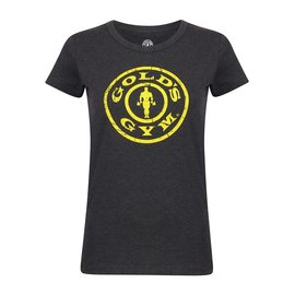 Gold's Gym Slogan T-shirt Stronger Than The Boys - Grey