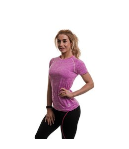 GOLD'S GYM Performance Ladies Fitted T-shirt - Lilac Marl