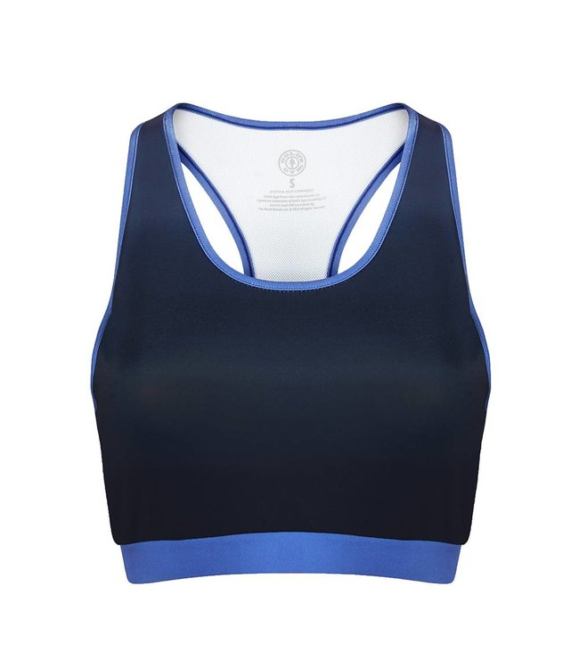GOLD'S GYM Ladies Gradient Sublimated Sports Crop Top - Blue
