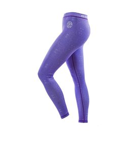 GOLD'S GYM Ladies Pattern Printed Gym Leggings - Lilac