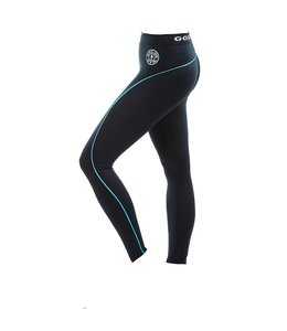 GOLD'S GYM Ladies Long Gym Leggings - Black/Turquoise