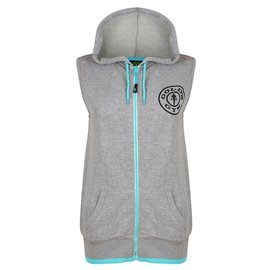 Gold's Gym Muscle Joe Premium Sleeveless Hoodie - Grey