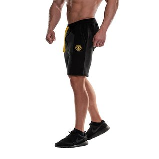 Gold's Gym Logo Fleece Premium Shorts - Black