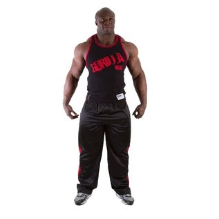 Gorilla Wear Stamina Rib Tank Top -  Black/Tango Red
