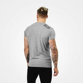 Better Bodies Basic Logo Tee -  Grey Melange