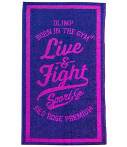 OLIMP LIVE & FIGHT Live & Fight Towel - Lilac/Pink