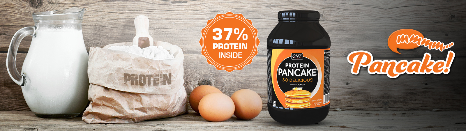 QNT Protein Pancake Banner