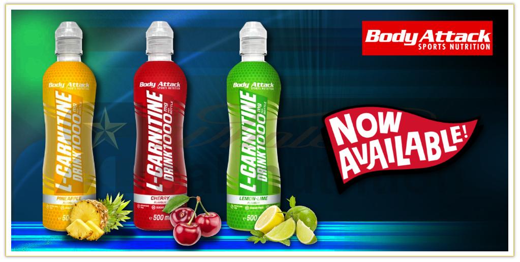 Body Attack eau de sport avec L-carnitine Real Nutrition Shop
