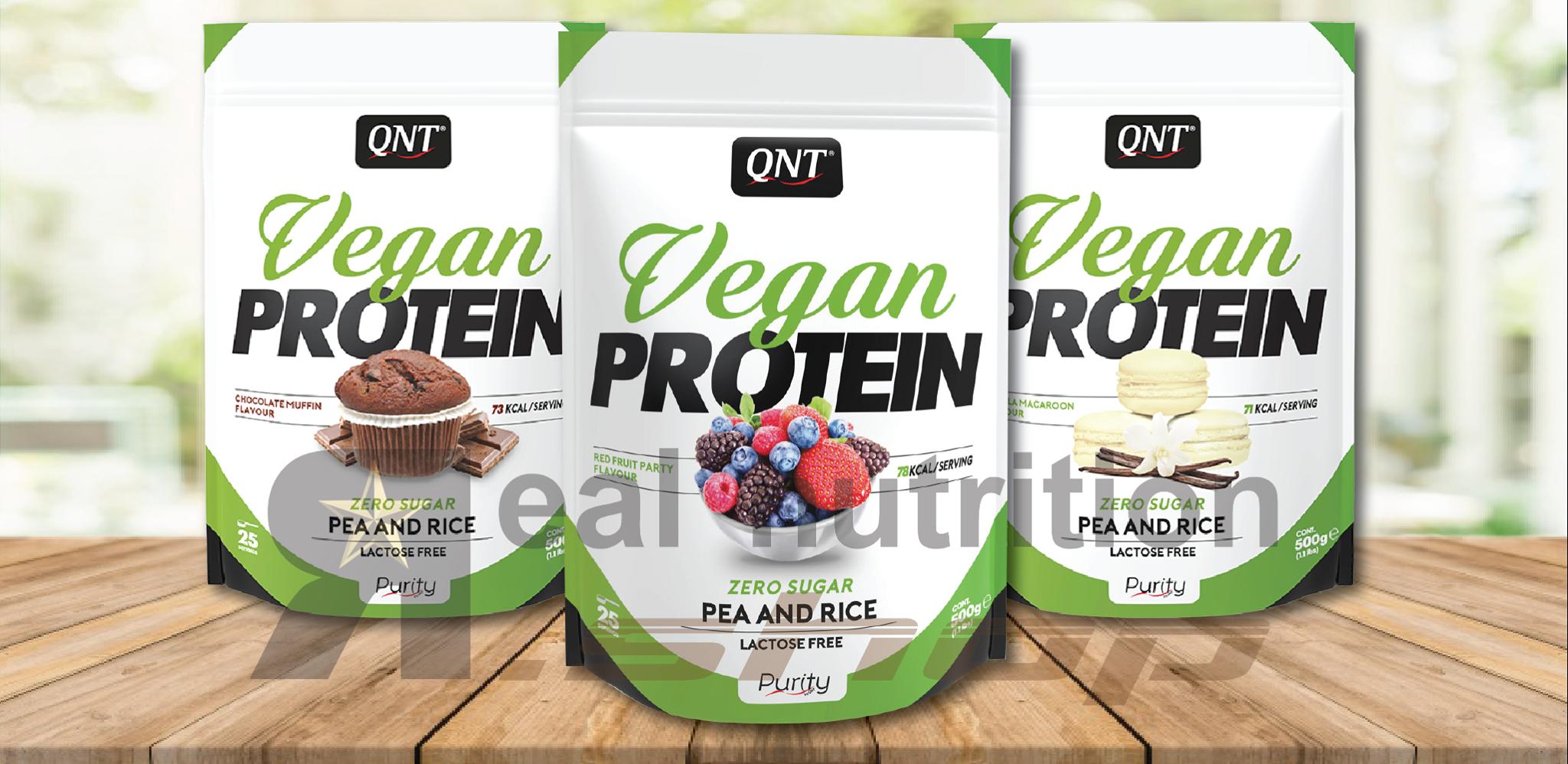 QNT Vegan Protein banner - Real Nutrition Shop