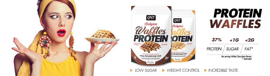 QNT Eiwitrijke Belgische wafel - Real Nutrition Shop