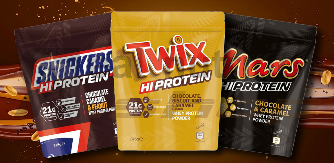 Realnutrition Shop - Mars, Snickers, Twix - hi protein powder
