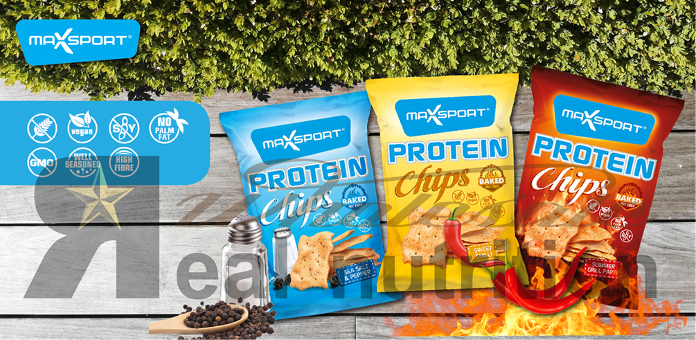 Max Sport protein chips banner - Real nutrition shop