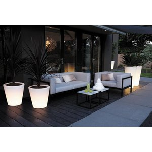 Elho Pure Straight Round LED Light 60cm. Elho Pure Verlichte Bloempotten.
