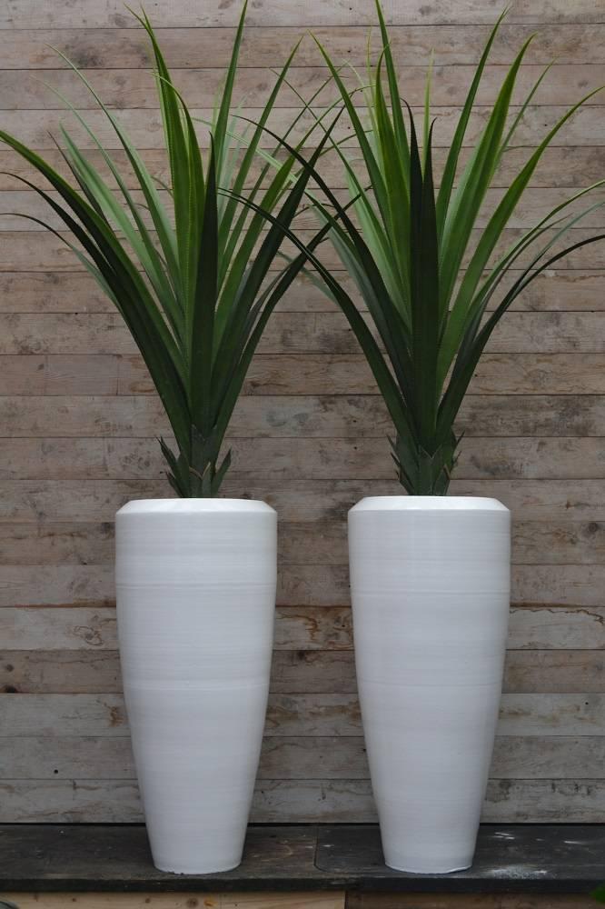 Beroemd Bora Bora Vaas 90cm Wit, grote aardewerk vaas. - Bloempotshop.nl #LV27