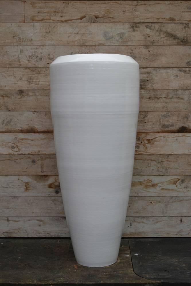 Beroemd Bora Bora Vaas 100cm Wit, grote aardewerk vaas. - Bloempotshop.nl #YT24