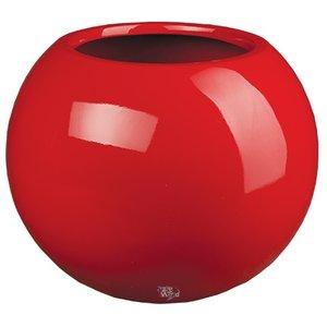 Darwin Ø35cm Rood, hoogglans rode ronde bloempot. Grote hoogglans rode ronde bolvazen
