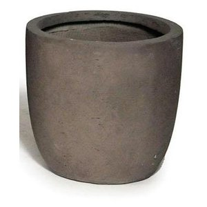 Grote clayfibre bloempot 34cm Taupe