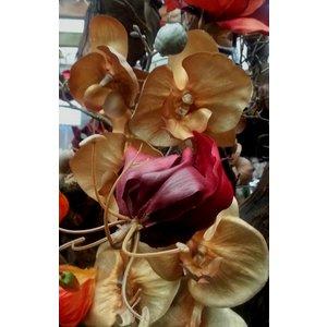 Orchidee Tak 80cm Warm Goud
