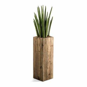 Houten plantenbak hoog model maat S
