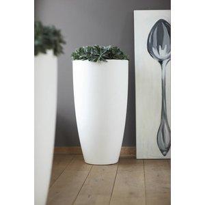 Elho Pure Soft Round High 35cm Witte Hoge Vaas by Elho. Pure Soft. Soft High vazen