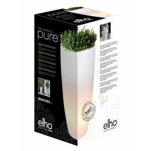 Elho Pure Soft Round High LED Light Ø40 H70. Elho Pure Verlichte Vazen.