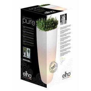 Elho Pure Soft Round High LED Light Ø50 H90. Elho Pure Verlichte Vazen.