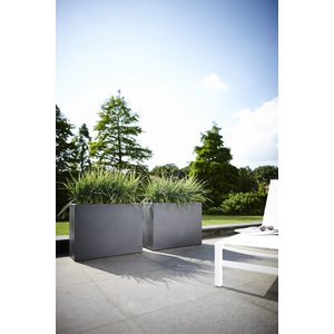 Elho Pure Soft Brick Divider 80cm Steengrijs Bloembak. Elho Pure Bloembakken.