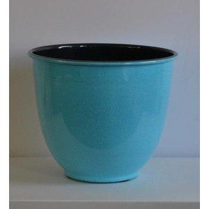 Paris Zinken Bloempot 23cm Turquoise