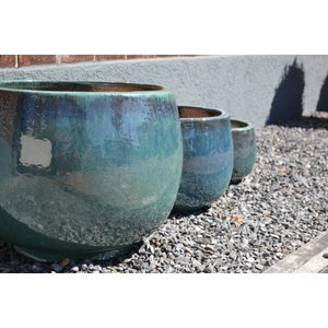 Malta Turquoise Aardewerk Geglazuurde Bloempot Ø 37cm