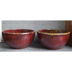 Rio Ossenbloed rode aardewerk Geglazuurde Schaal Ø 60cm