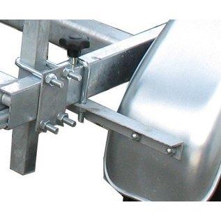 iTrailers Spatbordsteun hoekprofiel 30mmx30mmx3mmx240 mm padmaat 1000/1200 voor ongeremde trailer